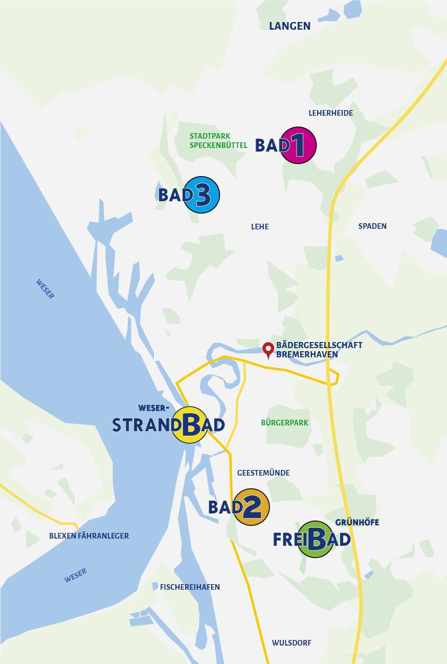 Bäder | Bädergesellschaft Bremerhaven - Bad 1, Bad 2, Bad ...